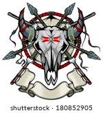 cow skull | Shutterstock .eps vector #180852905