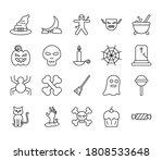 Halloween Line Style Icons...