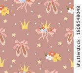 vector pattern ballet  pointe...   Shutterstock .eps vector #1808548048