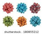 round decorational bow isolated ... | Shutterstock . vector #180855212