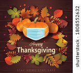 happy thanksgiving greeting... | Shutterstock .eps vector #1808552632