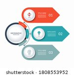 infographic template with a...   Shutterstock .eps vector #1808553952
