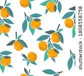 abstract tangerine seamless...   Shutterstock .eps vector #1808558758