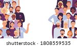 divided people crowd.  divide...   Shutterstock . vector #1808559535