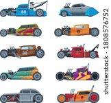 retro style hot rod race cars ... | Shutterstock .eps vector #1808576752