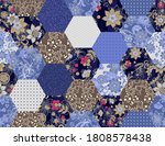 patchwork seamless pattern from ... | Shutterstock .eps vector #1808578438