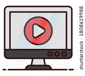 icon design of video player ...   Shutterstock .eps vector #1808619988