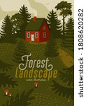 forest landscape. woods...   Shutterstock .eps vector #1808620282
