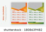 editable wall calendar 2021 ... | Shutterstock .eps vector #1808639482