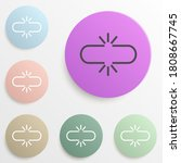 union symbol badge color set....