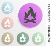bonfire badge color set. simple ...