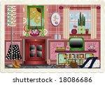 trendy funky retro graphic...   Shutterstock . vector #18086686