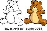 teddy bear | Shutterstock . vector #180869015