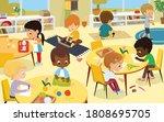 school class. multicultural...   Shutterstock .eps vector #1808695705