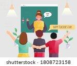 back view of children... | Shutterstock .eps vector #1808723158