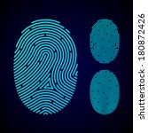 types of fingerprint patterns   ... | Shutterstock .eps vector #180872426