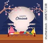happy chuseok celebration...   Shutterstock .eps vector #1808727238