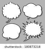 comical bubble speech | Shutterstock . vector #180873218