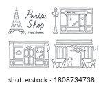 paris shops on the street | Shutterstock .eps vector #1808734738