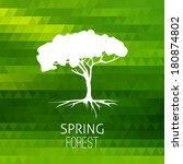 tree silhouette vector on...   Shutterstock .eps vector #180874802
