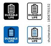 """durable life""  text  long... | Shutterstock .eps vector #1808750152"