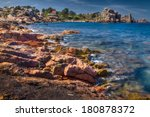 pink granite coast  brittany ... | Shutterstock . vector #180878372