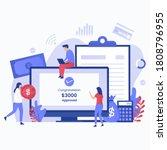 fast online loan process... | Shutterstock .eps vector #1808796955