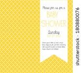 yellow baby shower invitation   ... | Shutterstock .eps vector #180880076