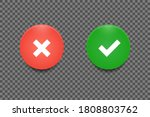 approve and decline button set. ... | Shutterstock .eps vector #1808803762