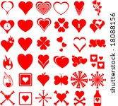 heart symbols collection | Shutterstock .eps vector #18088156