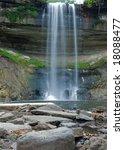 waterfall at minnehaha falls...   Shutterstock . vector #18088477