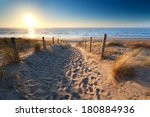 path to sand beach in north sea ... | Shutterstock . vector #180884936
