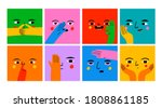 square abstract comic faces... | Shutterstock .eps vector #1808861185
