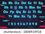 alphabet and numbers. vector... | Shutterstock .eps vector #1808914918