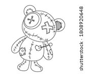 Voodoo Doll Teddy Bear Vector...