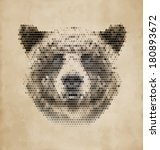 Vintage Geometric Bear Design