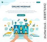 webinar. internet conference.... | Shutterstock .eps vector #1808976442