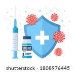 vaccination concept.... | Shutterstock .eps vector #1808976445