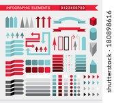 infographic elements  arrows... | Shutterstock .eps vector #180898616