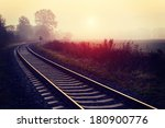 Railroad Track During Autumn...