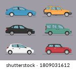 set of isolated cars of... | Shutterstock .eps vector #1809031612