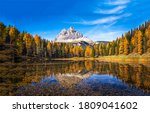 Autumn Forest Lake Mountain...
