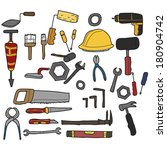 collection of different tools... | Shutterstock .eps vector #180904742