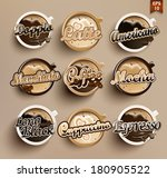 coffee vector icon set menu.  | Shutterstock .eps vector #180905522