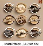 coffee vector icon set menu.  | Shutterstock .eps vector #180905522