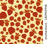strawberry seamless pattern | Shutterstock .eps vector #180905948