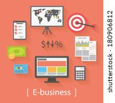 internet business  e business ... | Shutterstock .eps vector #180906812