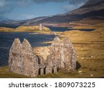 A Ruined Croft With Ardvreck...