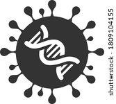 vector coronavirus genome flat... | Shutterstock .eps vector #1809104155