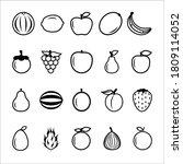 fruit icon pack vector...   Shutterstock .eps vector #1809114052